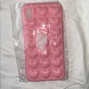NWT 3D Hearts IPhone XR Case
